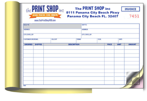 NCR forms printing in Panama City Beach