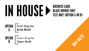 Black & white business cards Panama City Beach